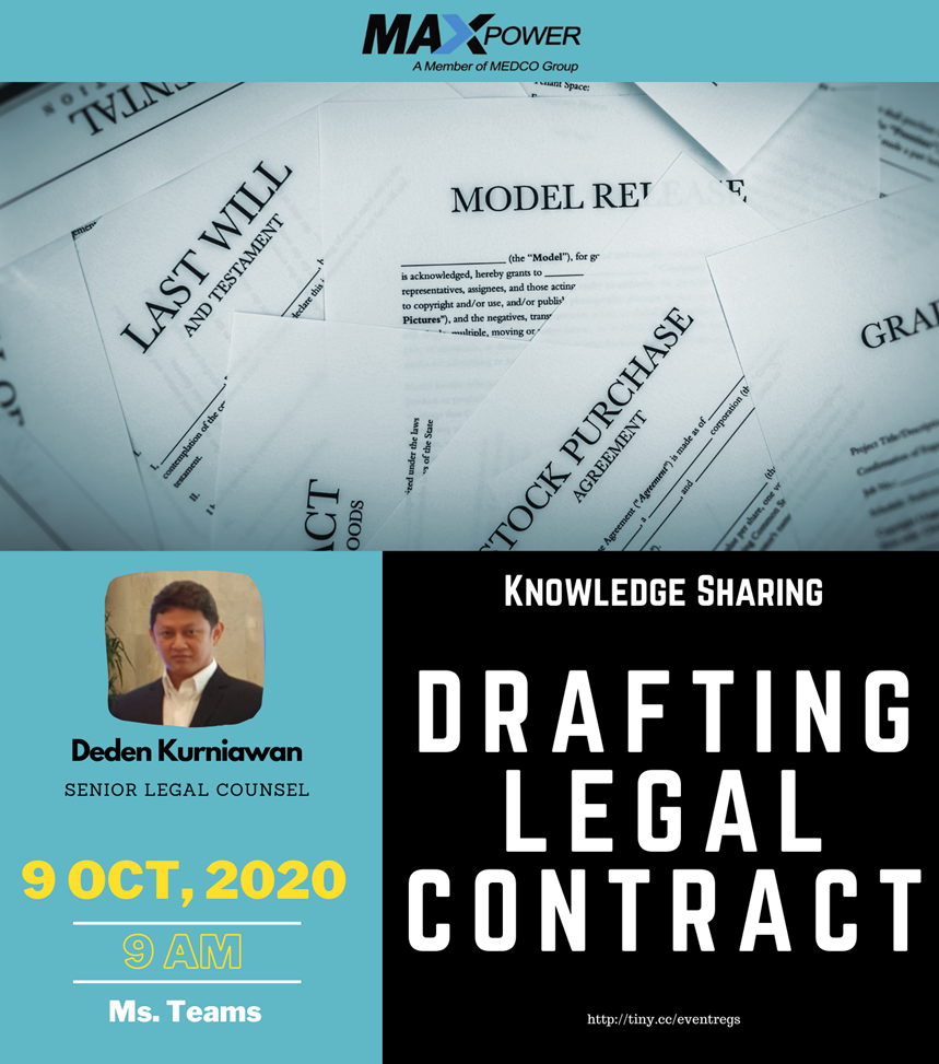 Knowledge Sharing : Drafting Legal Contract