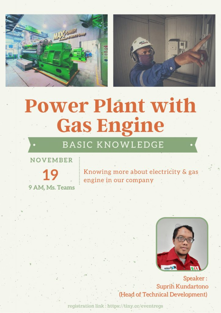 Knowledge Sharing : Power Plant with Gas Engine Basic Knowledge