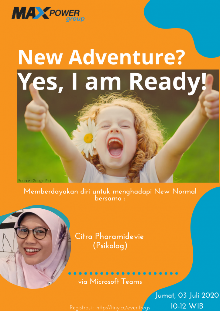 Knowledge Sharing : Mental Health Talk – New Adventure? Yes, I'm Ready