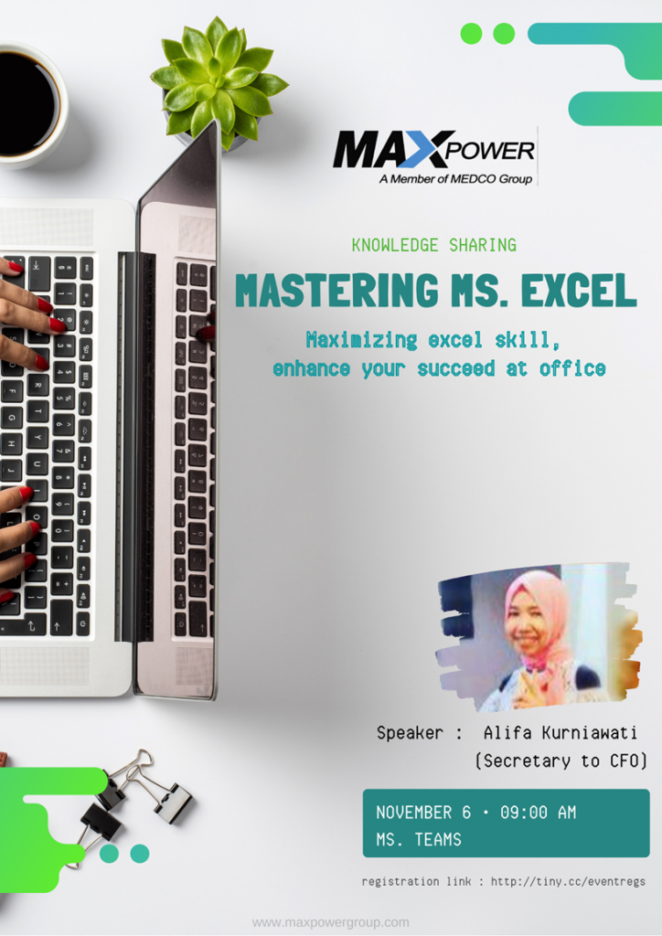 Knowledge Sharing : Maximazing Excel Skill, Enhance Your Succeed at Office