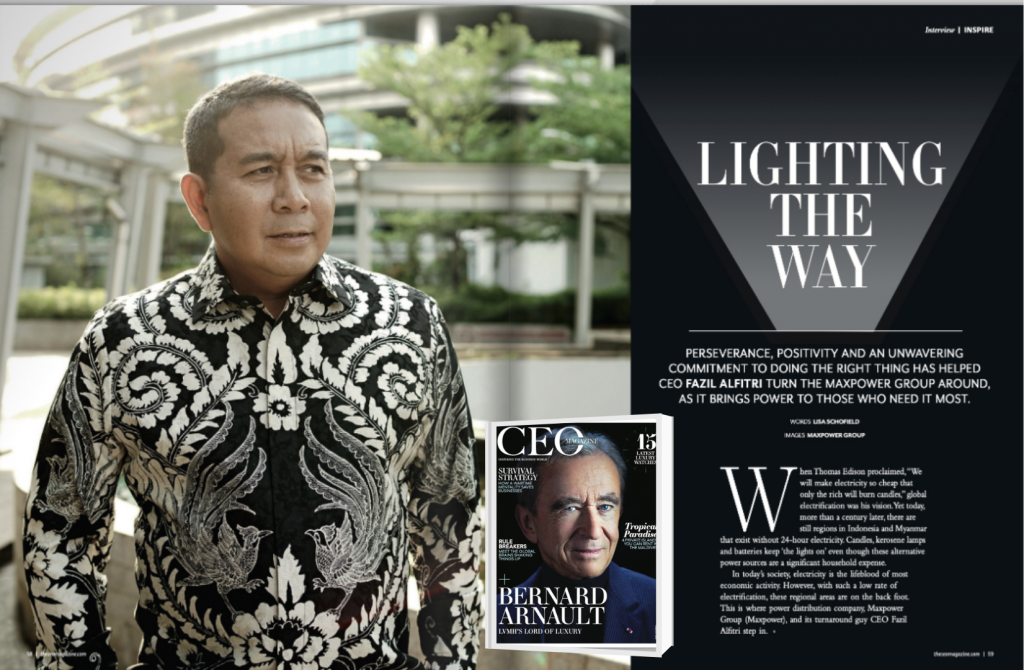 Interview with Fazil E. Alfitri as CEO Maxpower Group on CEO Magazine Asia