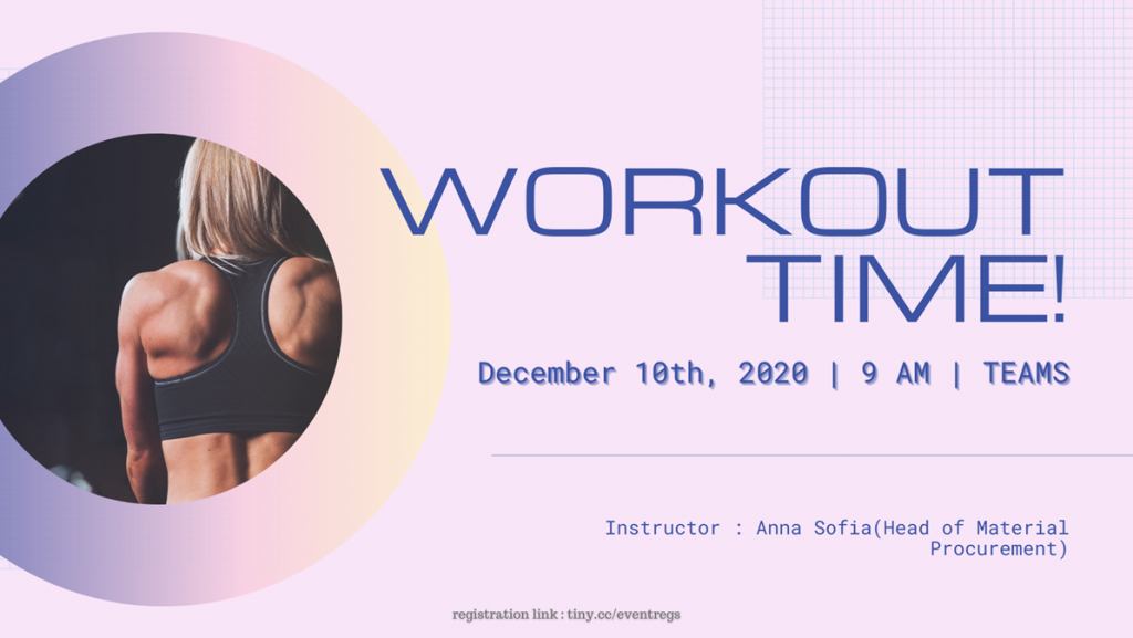 Knowledge Sharing : Workout Time!
