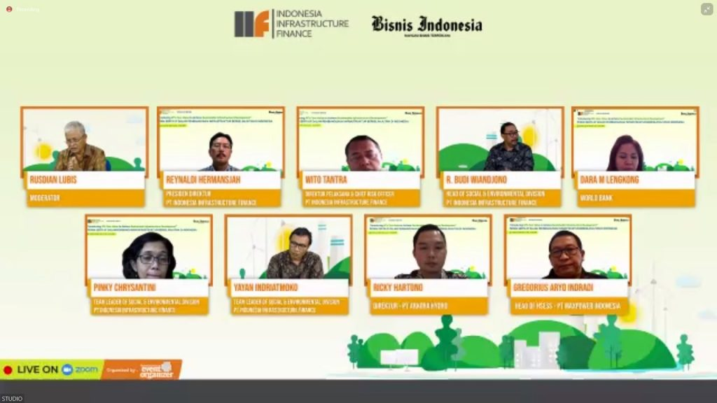 Head of HSESS Maxpower Group, Gregorius Aryo Indradi participated as a speaker at Indonesia Infrastructure Finance Webinar Series with Bisnis Indonesia
