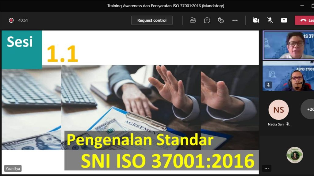 Implementation of the Anti-Bribery Management System (SMAP) and ISO 37001:2016 Certification