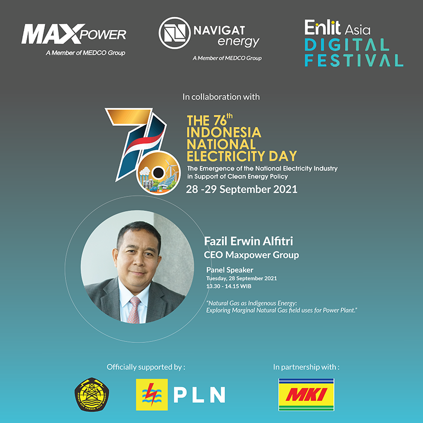 Maxpower Group & Navigat Energy Indonesia at The 76th National Electricity Day 2021 Digital Festive